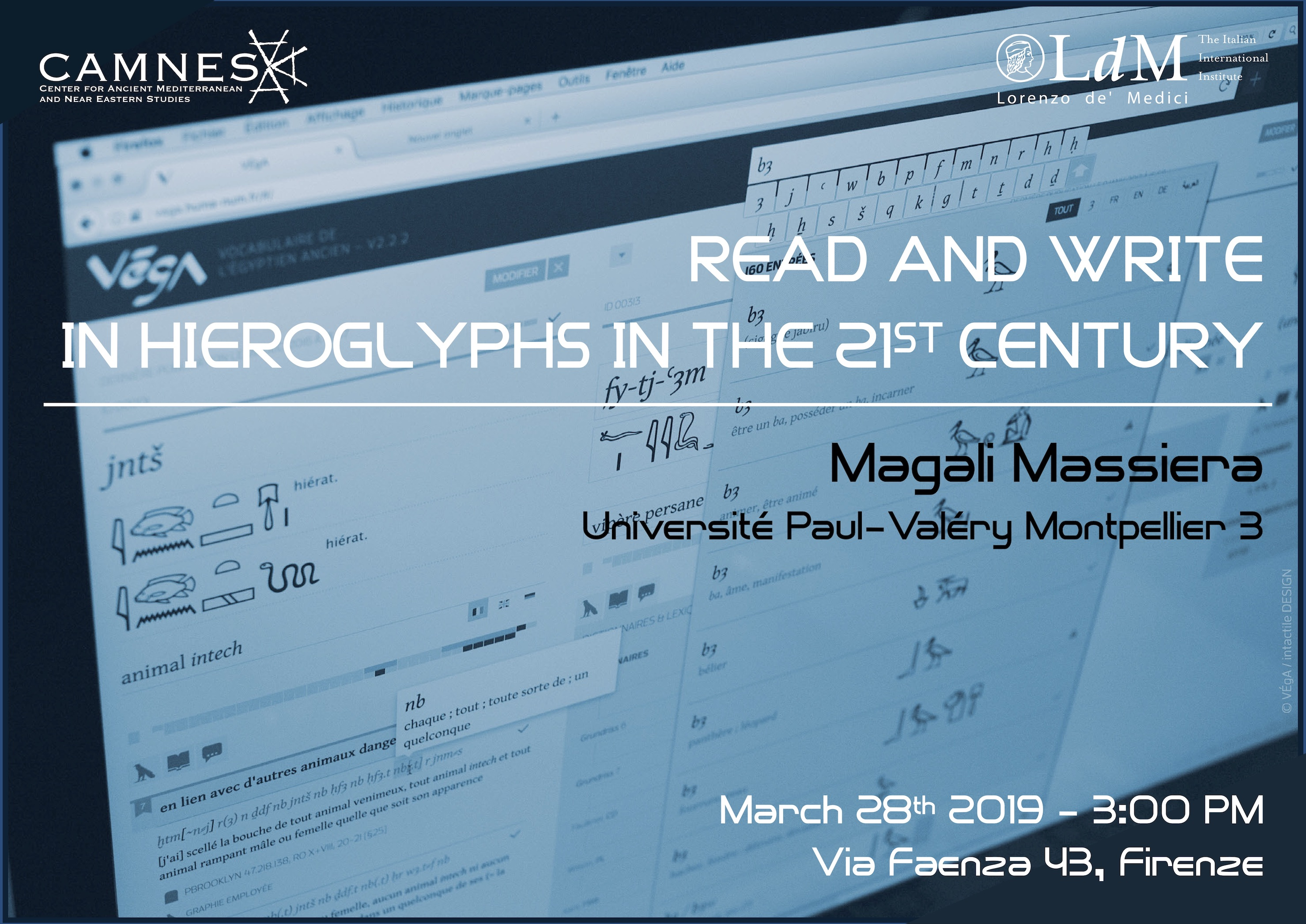 CONFERENZA: Read & write in Hieroglyphs the 21ST Century